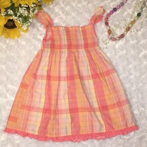 Youngland Baby Girl Plaid Dress Size 24 Months